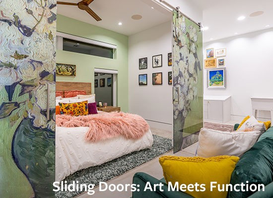 Sliding Doors- Art Meets Function